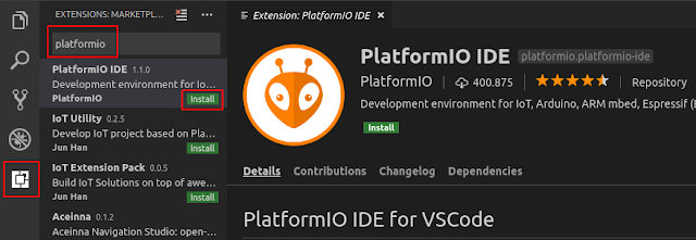 Install PlatformIO in VS Code