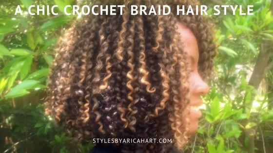 A Chic Crochet Braid Hair Style For Black Hair