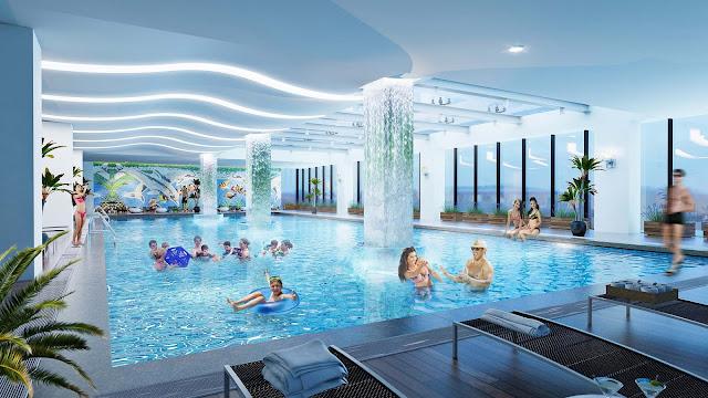 Bể bơi hiện đại của Florence Mỹ Đình