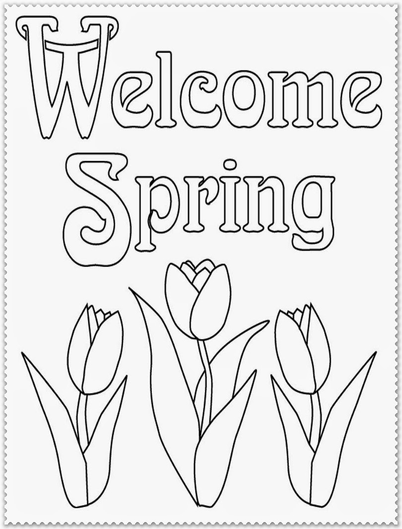 spring blossoms coloring pages
