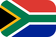 Rounded flag of South Africa