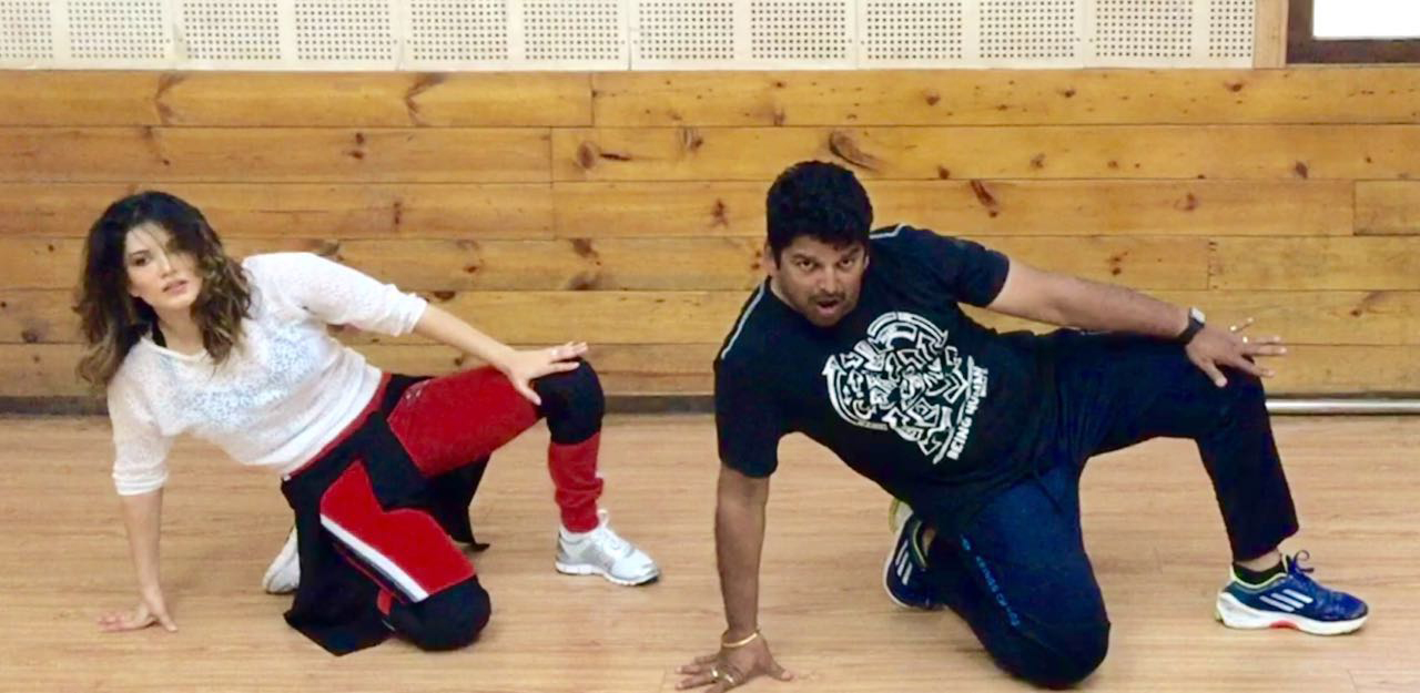 Sunny Leone dance rehearsal, Sunny Leone in Beimaan Love, Sunny Leone with Vishnu Deva