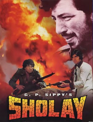 Poster Of Bollywood Movie Sholay (1975) 300MB Compressed Small Size Pc Movie Free Download worldfree4u.com