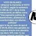 Este texto sobre el VOTO EN BLANCO en las elecciones, es falso