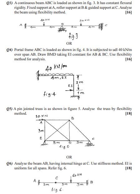 Pune University B E Civil Matrix Methods of Structural