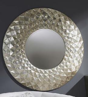 Espejo color plata metalico