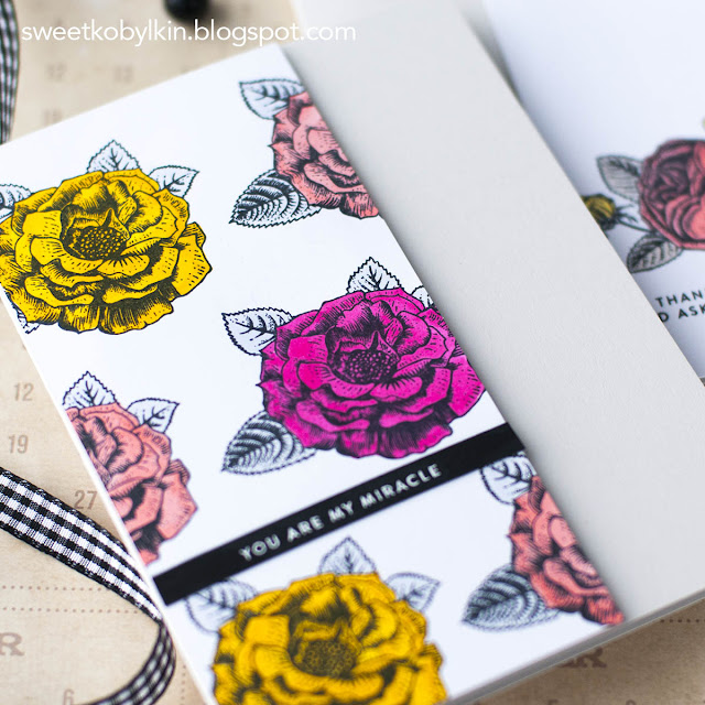 Flat Coloured Floral Card