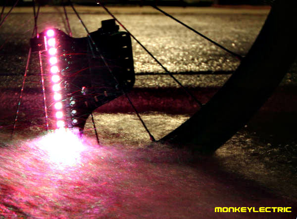 beautiful LED bike wheel lights