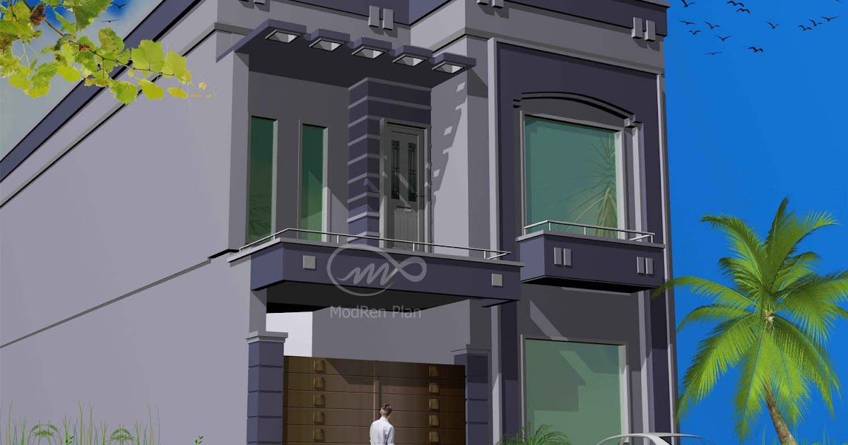 Indian home design 5 marla front elevation for 5 marla house decoration