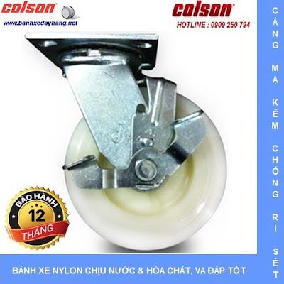 Bánh xe Nylon. bánh xe đẩy chịu tải trọng (243 - 370kg/bánh) banhxedaycolson.com