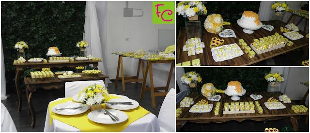 Casamento Amarelo e Branco - Decoração Rústica