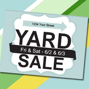 Yard Sale Sign Printable