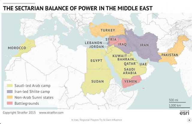 The Sectarian Balance of Power in the Middle East / Source: ESRI
