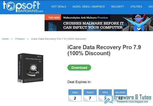 Offre promotionnelle : iCare Data Recovery 7.9 gratuit !