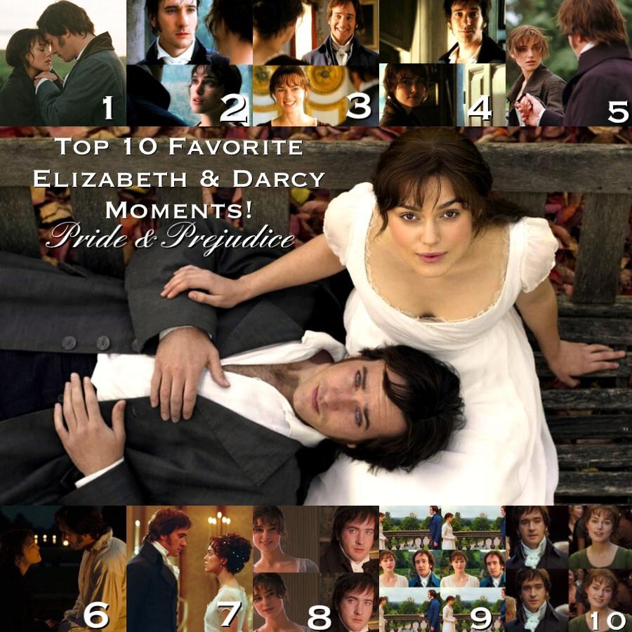 Top 10 Favorite Elizabeth & Darcy Moments in Pride & Prejudice (2005