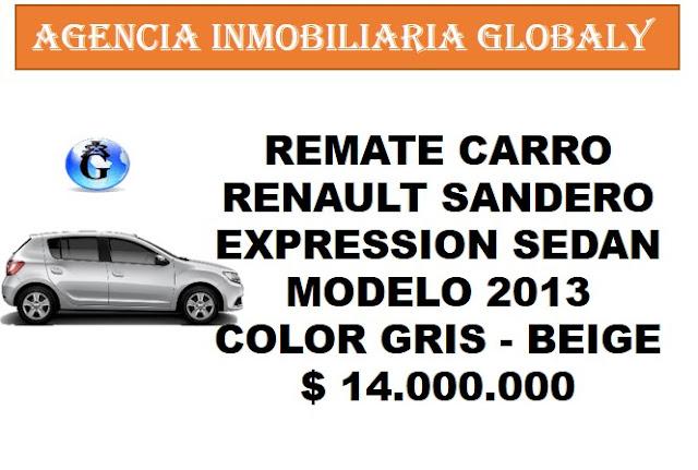 REMATE CARRO RENAULT SANDERO EXPRESSION 2013