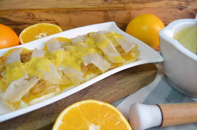 naranja con bacalao ahumado, el regalo de atenea, recetas con naranjas, recetas con bacalao ahumado, naranjas recetas, bacalao ahumado recetas, recetas, aperitivos, las delicias de mayte,