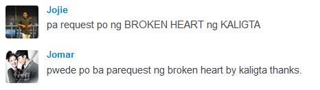 broken heart request kaligta