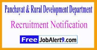 PNRD Panchayat & Rural Development Department Recruitment Notification 2017 Last Date 07-06-2017