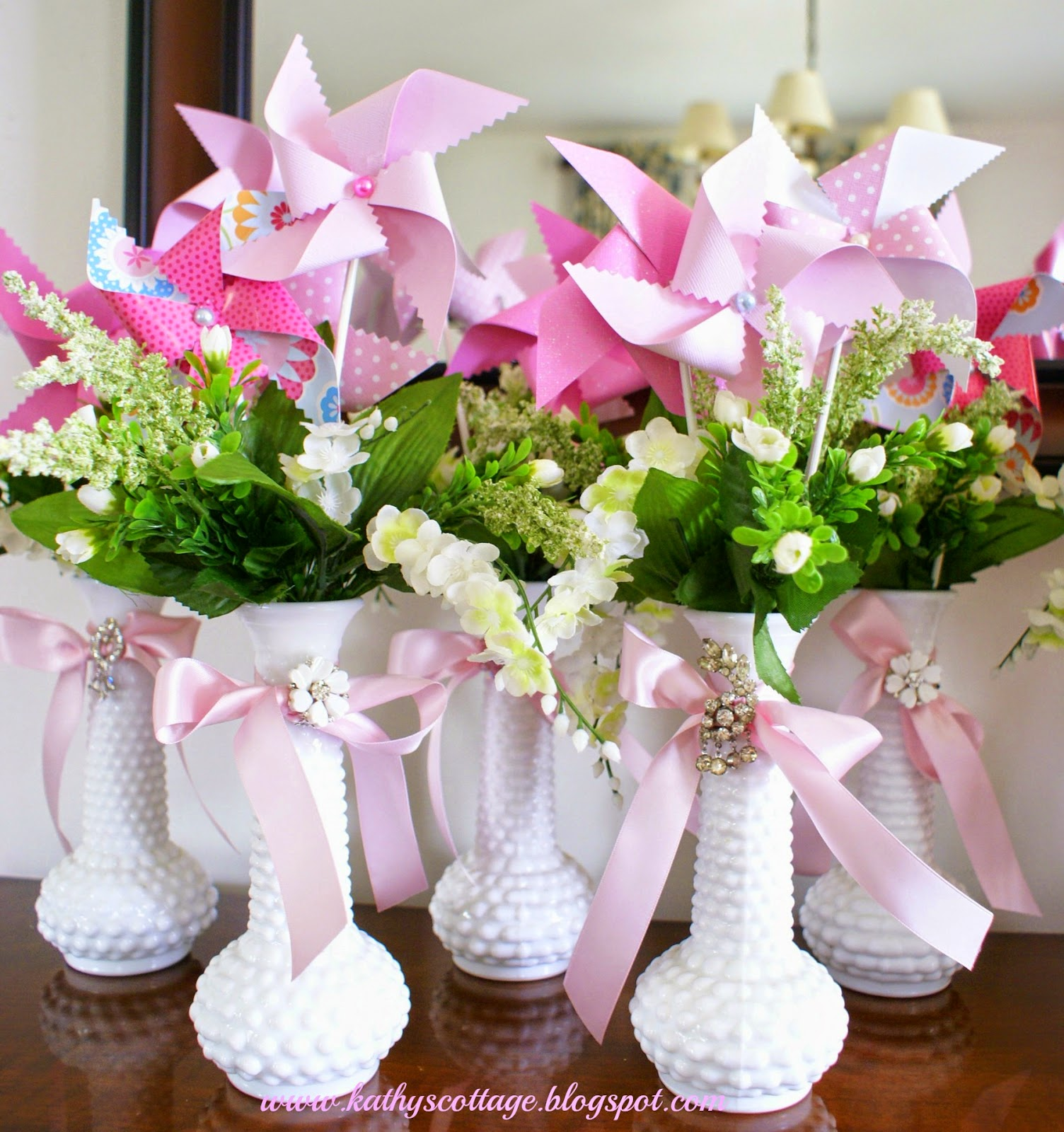 Inexpensive Wedding Centerpiece Ideas: Kathys Cottage: Budget Wedding And Bridal Shower Centerpieces