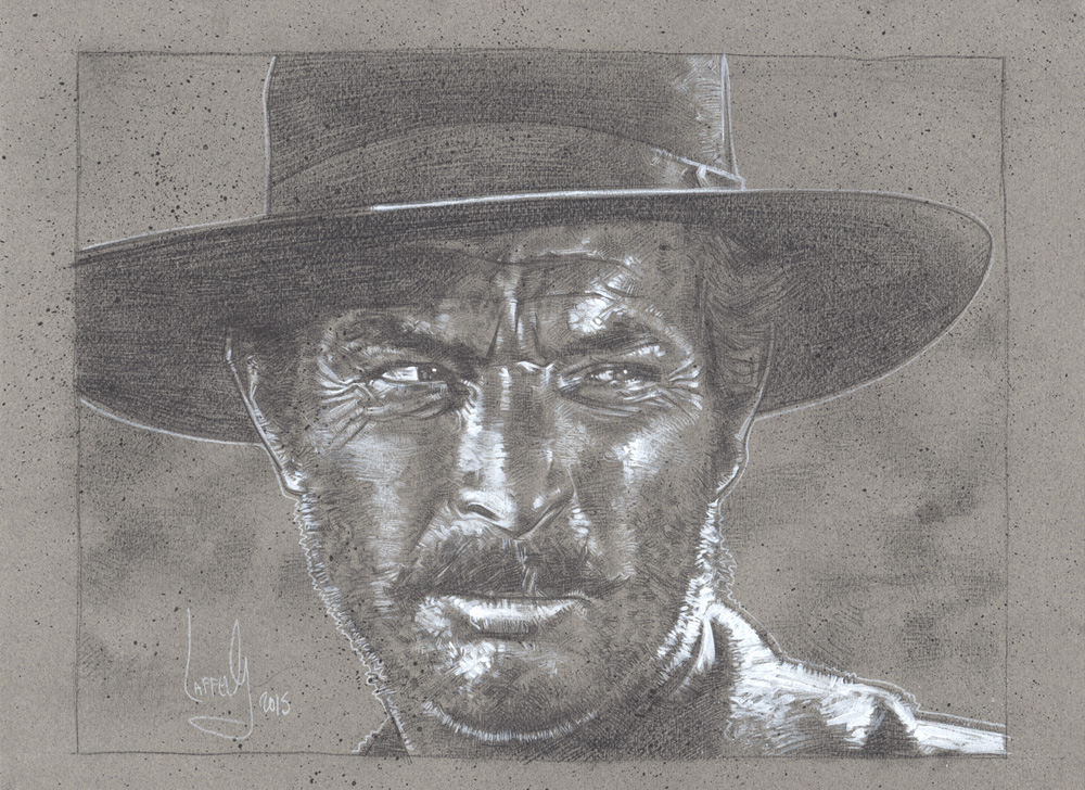 Lee Van Cleef, Angle Eyes Art © JEFF LAFFERTY 2015