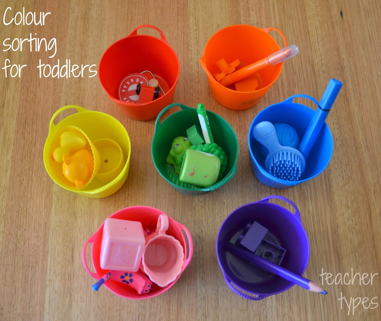 Colour Sorting For Toddlers