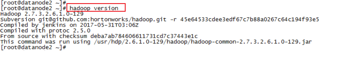 Hadoop Lessons: Checking versions of Hadoop eco system tools