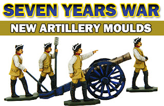 New Prince August moulds | Seven Years War Artillery moulds.