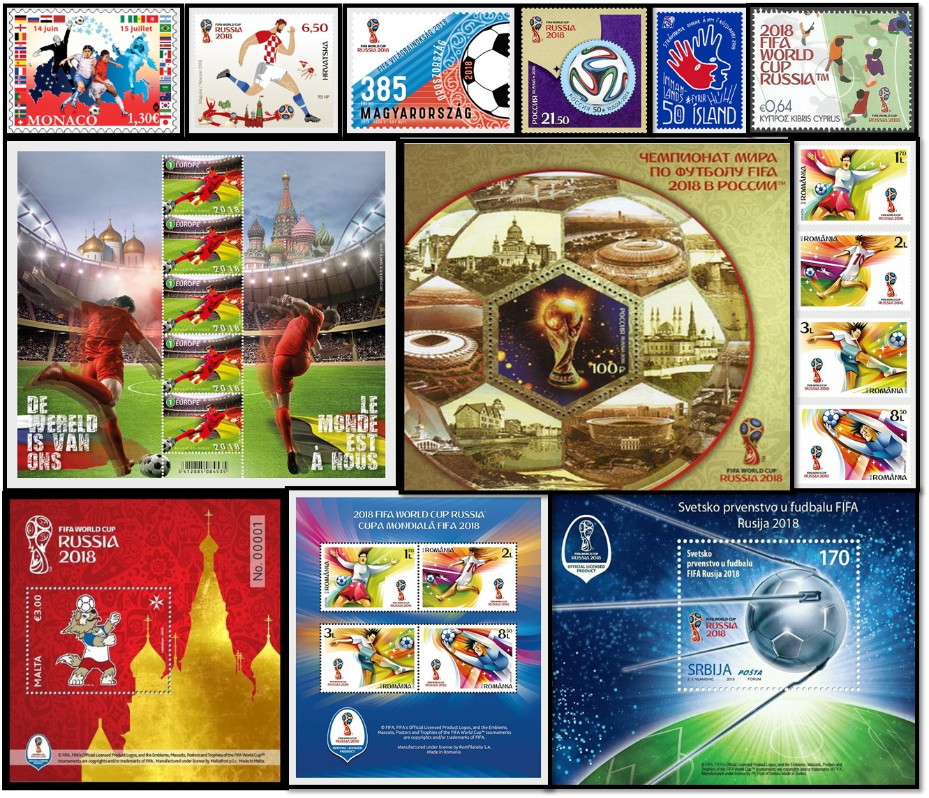 Postage stamps for the World Cup 2018 63