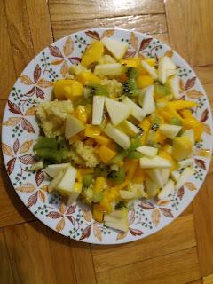 Alkaliczna kolacja - kasza jaglana z owocami, alkaliczna dieta, jadłospis alkalicznej diety, jak odkwasić organizm, co jeść gdy mamy zakwaszony organizm