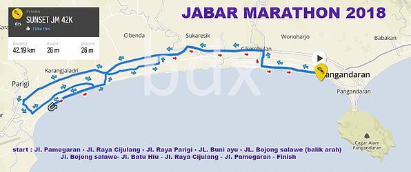 Jabar International Marathon Route 2018