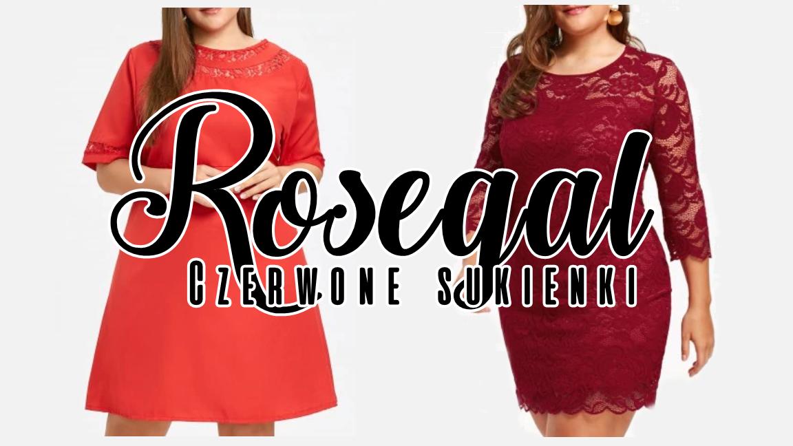 Czerwone sukienki ROSEGAL