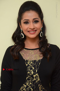 Telugu Actress Manasa Manohar Stills in Black Long Dress at Naku Nene Thopu Turumu Trailer Launch  0035.JPG