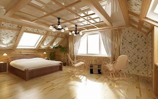Натяжные потолки мансарда
