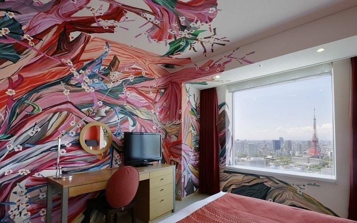 No. 15 Park Hotel Tokyo Artist Room 'Otafuku Face' designed by Aki Kondo