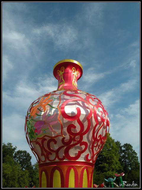 Vase Lantern in Lotus Ponds