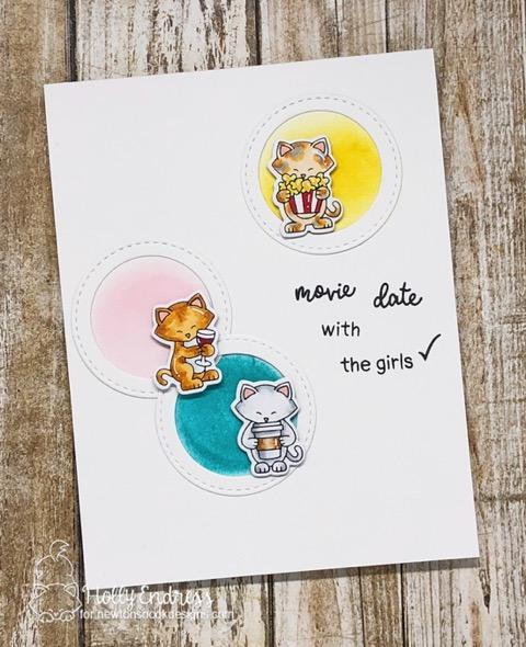 Girls night Kitty card with planner cats by Holly Endress | It's a Plan and Newton Makes Plans Stamp Sets by Newton's Nook Designs #newtonsnook #handmade