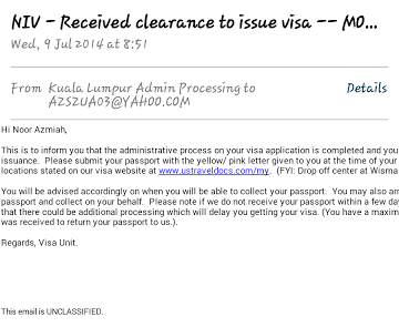 us embassy, kedutaan Amerika, jln tun razak, mohon visa US, interview US visa, shaklee trip, global conference, administrative processing