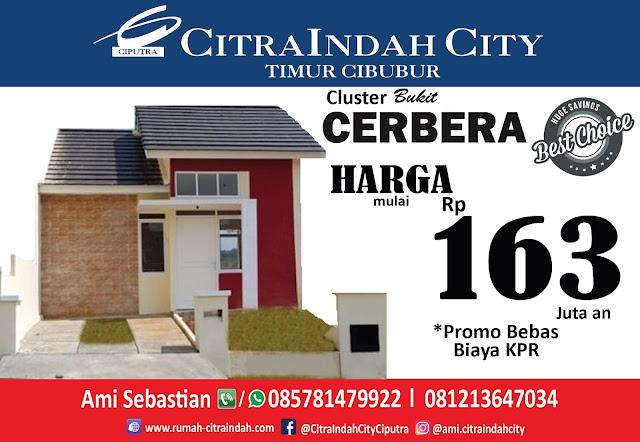 Bukit CERBERA Citra Indah City dipasarkan - Harga Mulai 163 Jt an