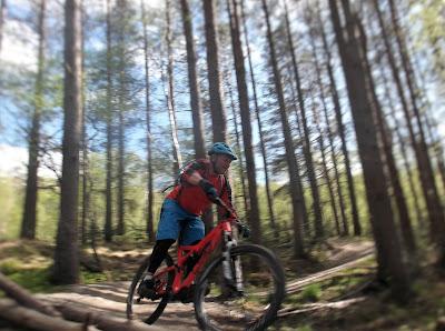 Mountain biking Nevis range