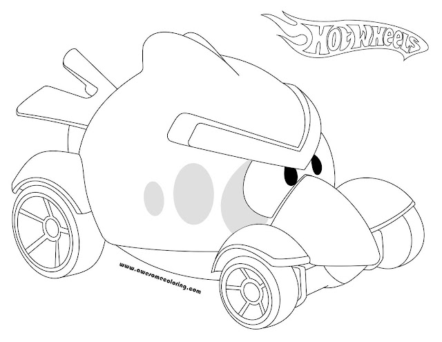 Hot Wheels Red Bird Coloring Page