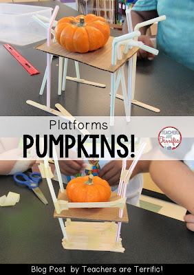 STEM Challenge: This one was about building a platform to hold an PUMPKIN! Check the blog post for more info!