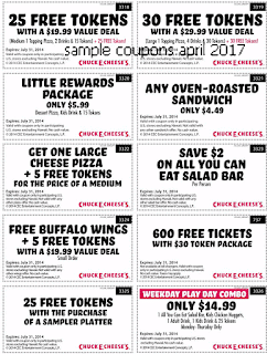 Chuck E Cheese coupons april