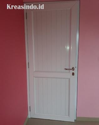 Pintu Aluminium Panel Putih