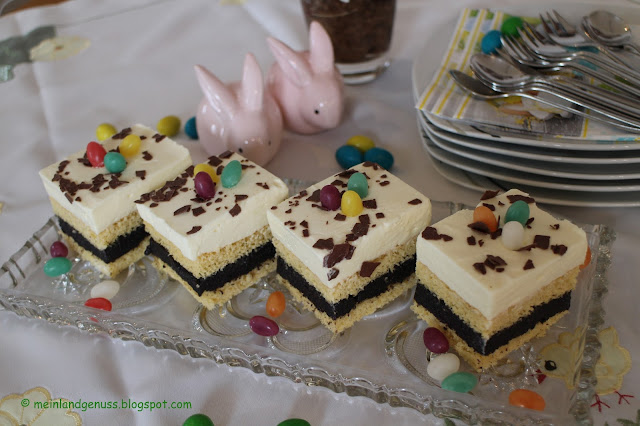 Mohn-Eierlikör-Schnitte für Ostern