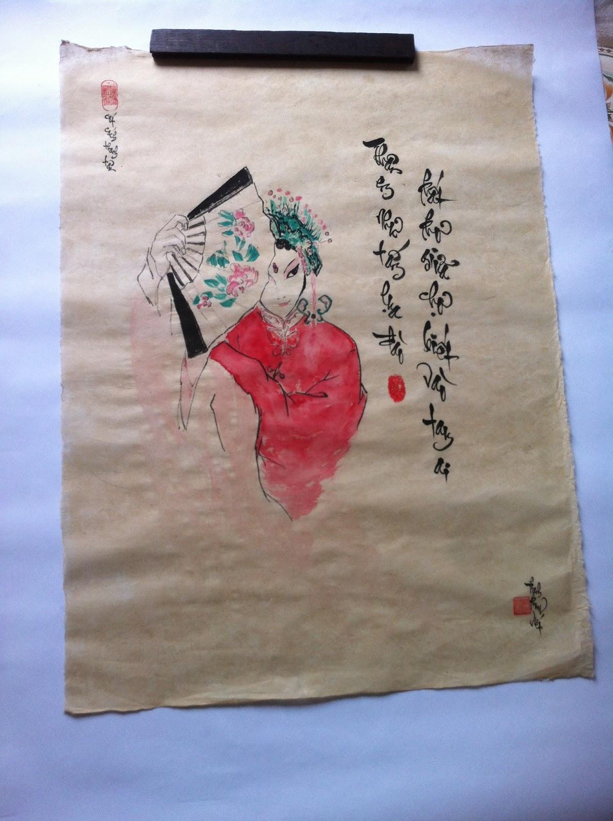 Chữ thư pháp đẹp: Thân em như tấm lụa đào, phất phơ giữa chợ biết vào tay ai