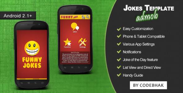Android joke app template codeholder. Net.