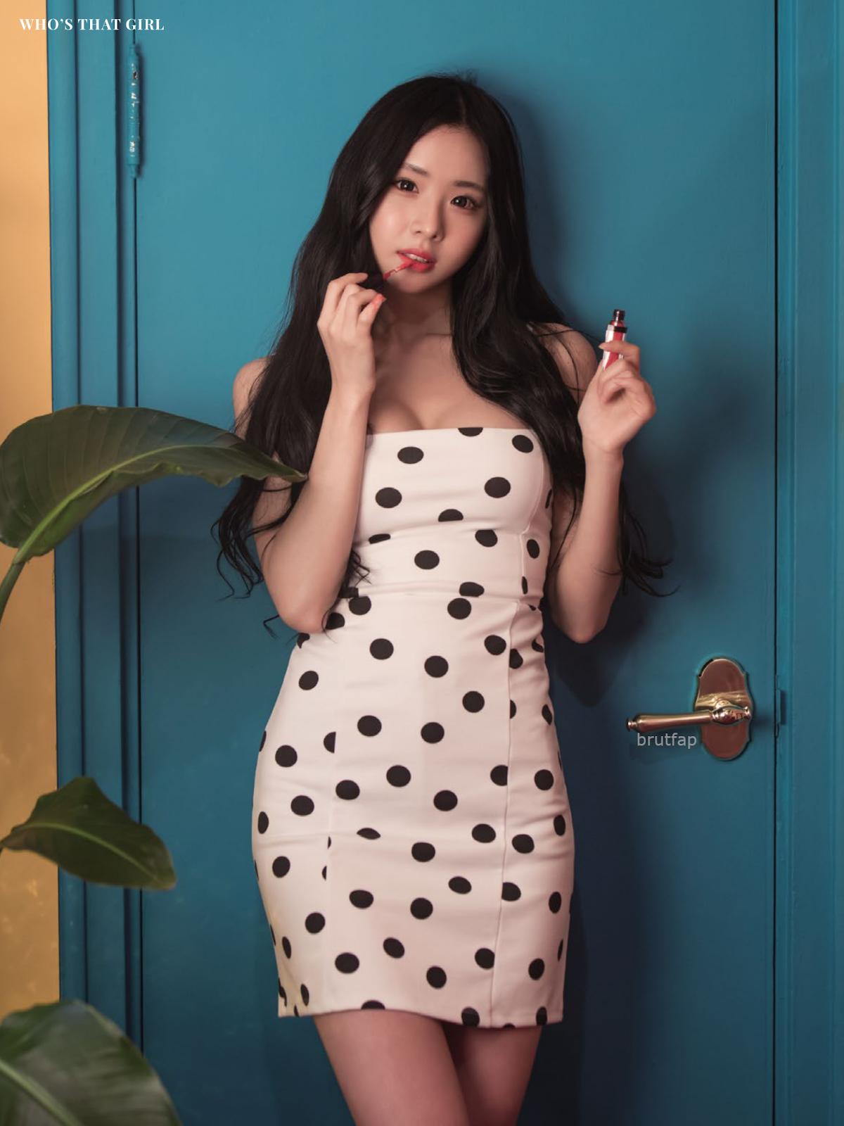 girl group member poses for maxim korea