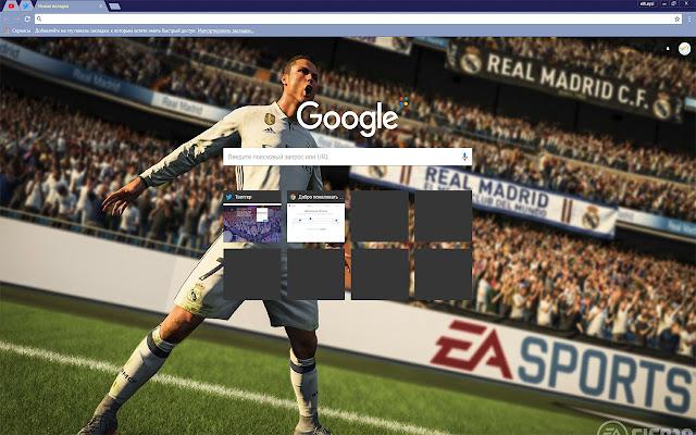 FIFA 18 CRISTIANO RONALDO Video Game Free Theme FOR Chrome