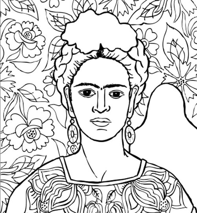 Dibujos Para Colorear Frida Kahlo Colorear Frida Kahlo